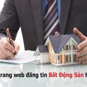 Thiết kế web đăng tin bán nhà đất chuyên nghiệp với nhiều tiện ích