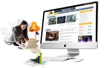Thiết kế web bất động sản sieuthinhadat24h.com.vn